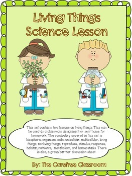 Living Things Science Lesson