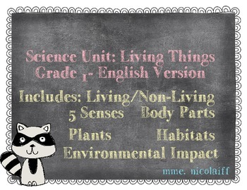 Living Things Science Unit