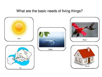 Living Things Survive Only in Environments the Meet their Needs