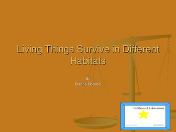 Living Things Survive in Different Habitats Interactive Lesson