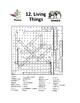 Living Things Word Search or Wordsearch