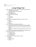 Living Things and Evolution Test