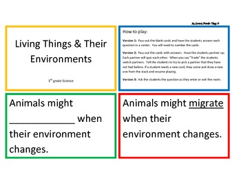 Living Things and Their Environment Quiz, Quiz, Trade