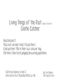 Living Things of the Past Cootie Catcher
