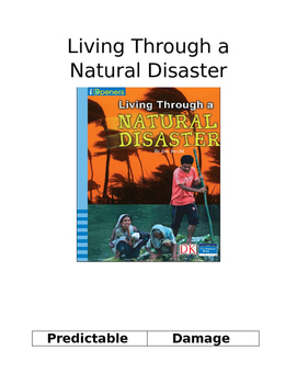 Living Through A Natural Disaster Vocabulary Words