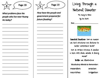 Living Through a Natural Disaster Trifold - ReadyGen 2016 3rd Grade Unit 3 Mod B