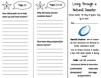 Living Through a Natural Disaster Trifold - ReadyGen 2016