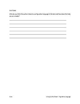 Living Up the Street Figurative Language Chapters 1-4