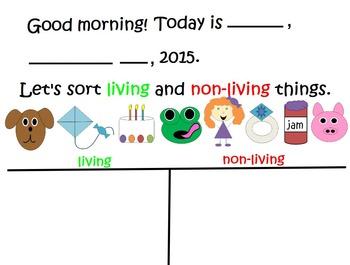 Living Vs. Non-Living Flip Chart