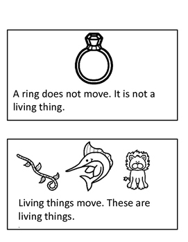 Living Vs Non-Living Things Unit - Emergent Readers, Game, and More