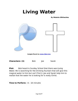 Living Water - Small Group Reader's Theater
