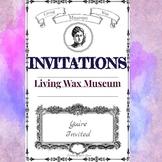 Living Wax Museum Blank Invitations