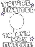 Living Wax Museum Invitation