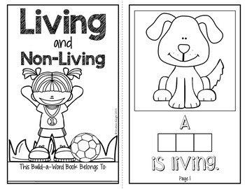 Living and non living a build a word science book for k 1 for Living and nonliving things coloring pages