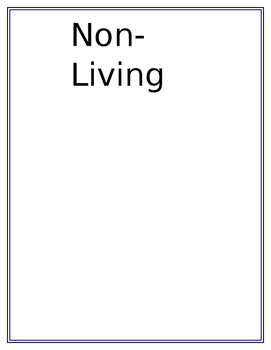 Living and Non-Living Activity