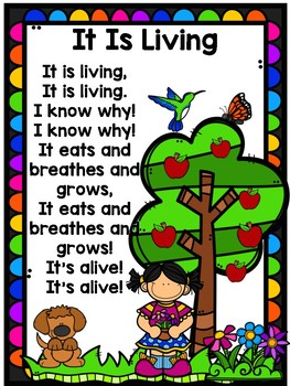 Living and Non-Living Anchor Charts
