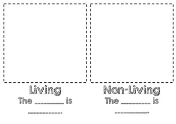 Living and Non-Living Class Book Template FREEBIE