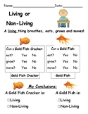"""Living and Non-Living """"Fish"""" Investigation"""