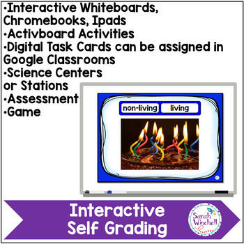 Living and Non-Living NGSS K-LS1-1 Boom Cards Kindergarten