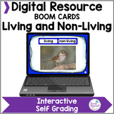 Living and Non-Living Things Digital Boom Cards Distance Learning