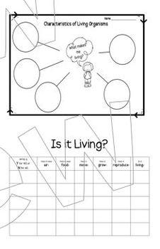 Living and Non-Living Organisms Mini Unit