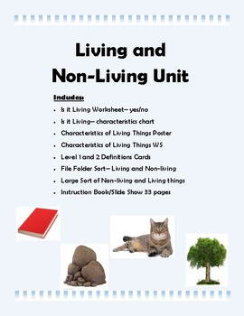 Living and Non-Living Science Unit