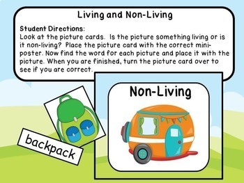 Living and Non-Living Sorting Activity with Worksheets