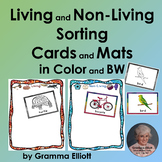 Living and Non Living Sorting Cards and Mats color and BW