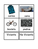 Living and Non-Living Spanish Card Sort