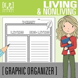 Living and Non-Living T-Chart Graphic Organizer
