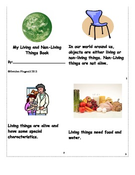 Living and Non-Living Things Book