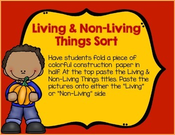 Living and Non Living Things Fall Activities
