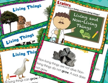 Living and Non-Living Things 5E Complete Lesson NGSS K-LS1-1 (No Prep)