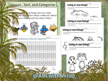 Living and Non-Living Things-Life Science Presentation, Activities, Worksheets