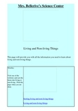 Living and Non Living Things Webquest