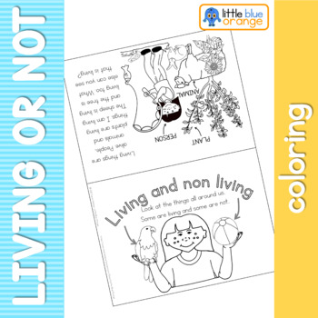 Living and Non Living coloring booklet