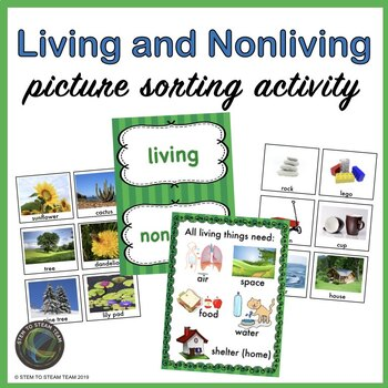 Living and Non-living Picture Sort and Writing Activity