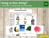 Living or Non-Living? - Sorting Cards & Control Chart