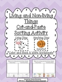 Living and Non-living Things Cut and Paste Sorting Activity