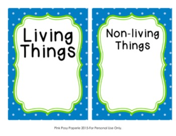 Living and Non-living Things Sorting Game