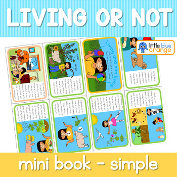 Living and Non living mini book (simplified version)