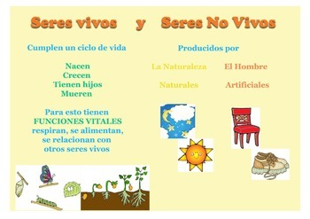 Living and Non-living things Spanish version!