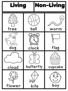 Living and nonliving by latoya reed teachers pay teachers for Living and nonliving things coloring pages
