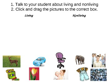 Living and NonLiving in PowerPoint