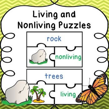 Living and Nonliving Things Sort Puzzles