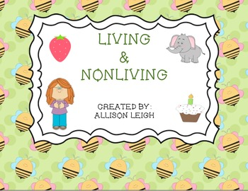 Living and Nonliving Activity Bundle