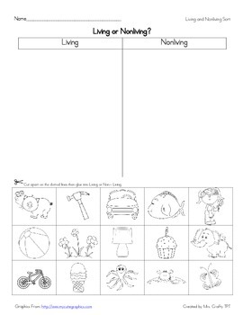 Living and Nonliving Activity Pack