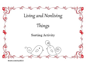 Living and Nonliving Backyard Sorting Activity