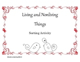 Living and Nonliving Backyard Sorting Activity