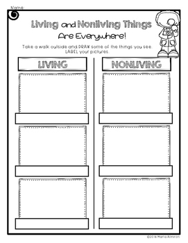 Living and Nonliving Brochure, Flipbook, and More